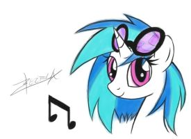 Vinyl Scratch by Xeirla