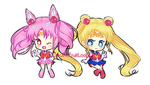 Mini Chibi - Sailor Senshi by CthulhuFruitLoops