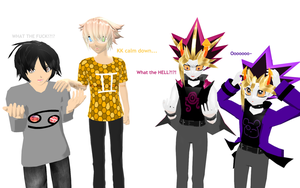 MMD - Yu-Gi-Oh/Homestuck - The old switcher-roo by InvaderBlitzwing