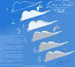 Cartoon clouds tutorial by WingedWilly