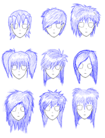 Hair Practice 1 by ThePikuseru