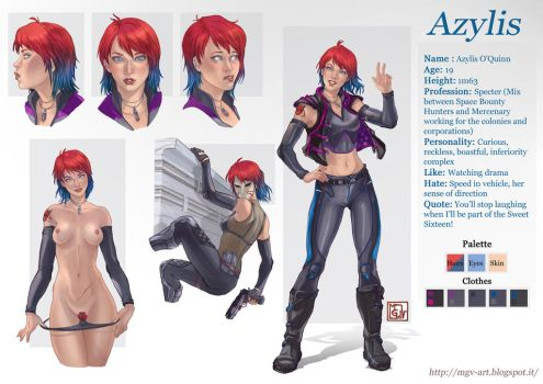commission 83 Azylis charachter sheet by LadyDeddelit