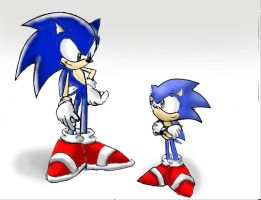 sonic and sonic by Jeffanime