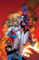 Harley Quinn and Powergirl 13 by battle810