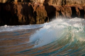 Waving at a wave by Bliding