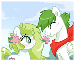 shaymin meet Gracidea by xWhiteDreamsx
