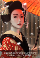 Geisha by CAROTdrawsthings
