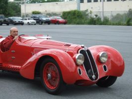 Dr. Simeone and the Alfa 8C2900MM by Aya-Wavedancer