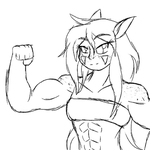 Safi Flexing by MetaDoodles