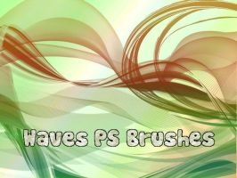 Waves Photoshop Brushes by petermarge