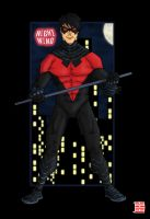 New Nightwing costume_2 by thesometimers