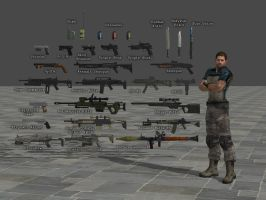 Weapon Pack RE6 by Adngel