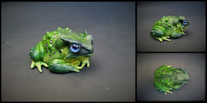Green Speckled Toad by BryrePatch
