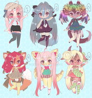 NEW ADOPTABLES by Lolisoup