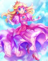Floating Peach by KagomesArrow77
