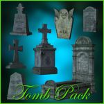 Tomb Pack Png by moonchild-lj-stock