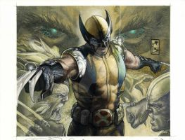Wolverine Panini deluxe cover by simonebianchi
