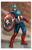 Captain America Colored by acosorio