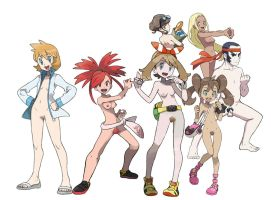 Nude Toons - Pokemon Trainers by Glitchy000