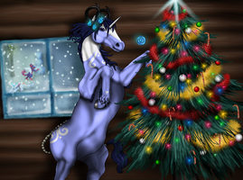 Decoraiting the tree by LLGold