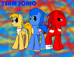 Team Sonic as ponies by EmenarArtStudios