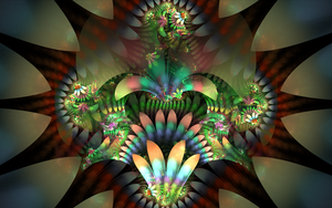 chaotic metallic flowers by Andrea1981G