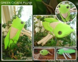 Green Cicada Plush by Tylon