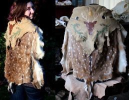 Painted Axis Deer Cape by lupagreenwolf