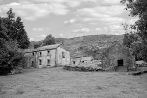 rundown abandoned Irish farmhouse by morrbyte