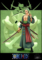 One Piece cards : Zoro by Lily-Fu