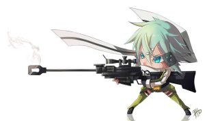 GGO-Sinon-Hecate by 7AHO