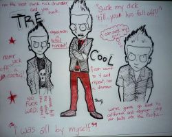 Tre Cool collage. by CometSpazzes14