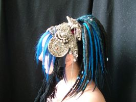 Blue Tribal Side Detail by RobynGoodfellow