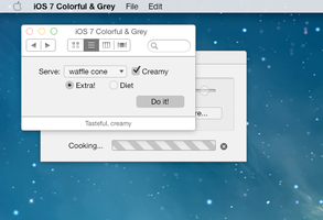 iOS 7 Mac Theme for Flavours: iOS7 Colorful + Grey by ccard3dev