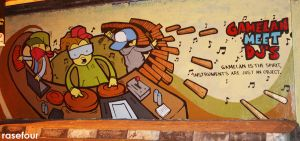 mural techno gamelan by rase4