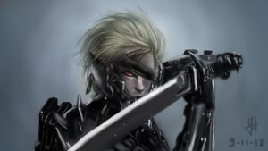Raiden from Metal Gear Rising by conqvest
