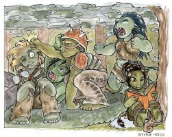 Lorc the little orc reading by shivikai