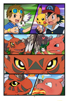 Digimon VS Pokemon comic updated page 1 by Tricksta-Kun