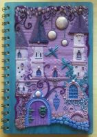 Polymer Clay Journal Cover by bgerr