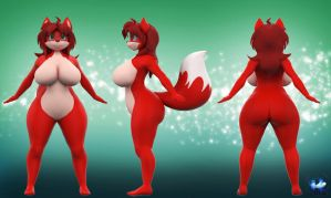 Vicki 3D Ref (Commission) by Reyriders