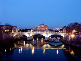 Castel Sant'Angelo at night by jes-rome