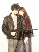 Couple With Guns 7 by cyber-stock