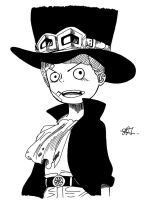 Sabo Inked by RusimRedom