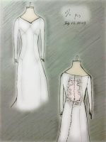 Breaking Dawn Part 1- Bella's wedding dress by JoannaPvs