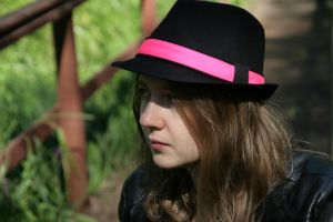 The girl in a hat 01 by StockEffect