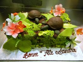 Turtles cake by buttercreamfantasies