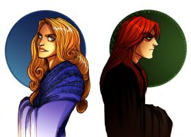Barrick and Briony by Enife