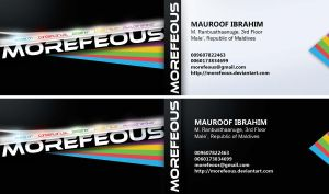 Morefeous Business Card by Morefeous