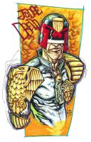 judge dredd by illustrated1