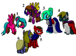 steampunk ponies adopts! (All adopted) by Seikithewolf